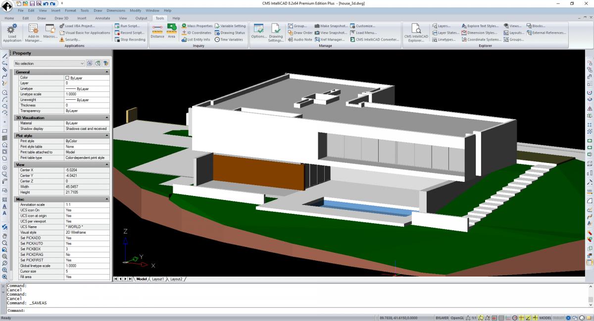 CMS IntelliCAD 3D shade